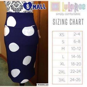 LuLaRoe Small Cassie Skirt.